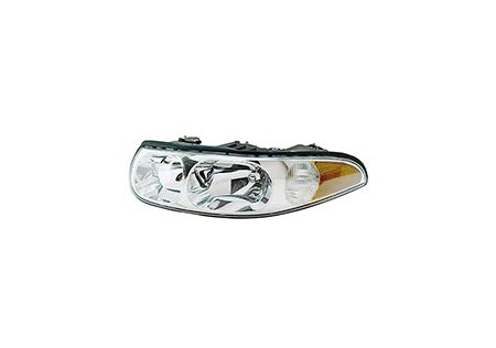 Fits 2000 Buick Lesabre Head Light Driver Side GM2502205 w/cornering/marker lamp; Limited; w/smooth high beam surface - replaces 25713549