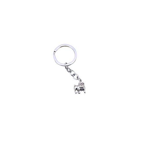 silver bulldog keychain - 8