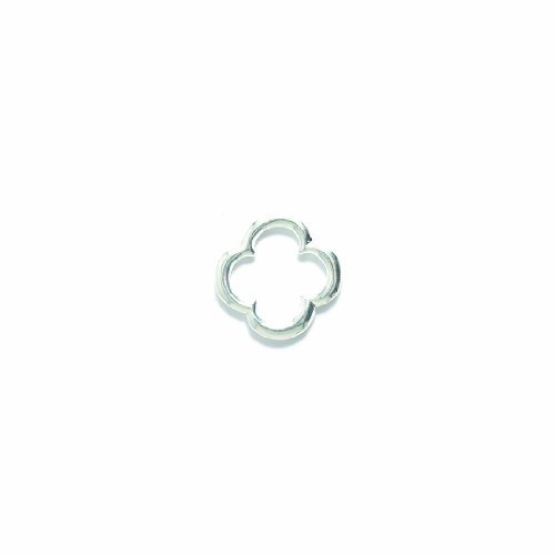 Shipwreck Beads Pewter Quatrefoil Ring, Metallic, Bright Silver, 22 by 22mm, 2-Piece ()