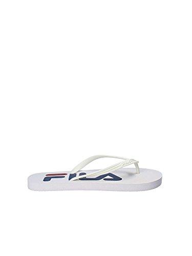 Base Blanc Troy Wmn Sport 1fg Fila white Mocassins Slipper Femme RFUqww