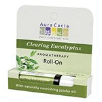 Aura Cacia Purifying Eucalyptus Aromatherapy Roll-On, 0.31 fl. oz. Bottle (a) - 2pc (Aromatherapy Stick Purifying Eucalyptus)