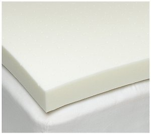 Cal-King 1 Inch iSoCore 3.0 Memory Foam Mattress Topper with Zippered Cover and Two Contour Pillows included by iSoCore Foam