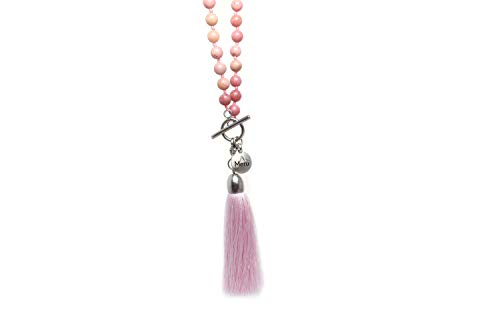 Premium 6mm Rhodonite Mala Beads Necklace by MeruBeads (Image #4)