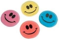 Disk Flyer Smile Face 3.5 in (1 Dozen)