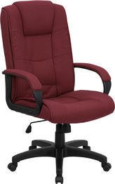 Flash Furniture High Back Burgundy Fabric Executive Swivel Chair with (Burgundy Leather Traditional Executive Chair)