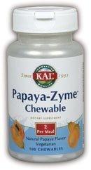 Papaya-Zyme Kal 100 Chewable by Kal