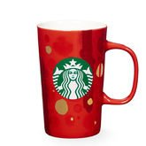 Starbucks 2015 Red Abstract Dot Holiday Mug, 12 Fl Oz