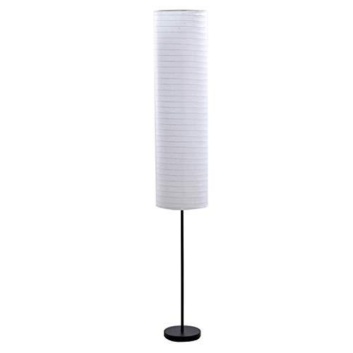 Catalina Lighting 21438-000 Modern 2-Light Zen Stick Floor Lamp with Rice Paper Shade 70