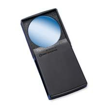 Round Magnifier with Cover, 5x, 2'''', Black Frame, Sold as 1 Each