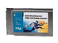 - Intel EtherExpress Pro 10/100 Fast Ethernet PCMCIA Type II PC Card