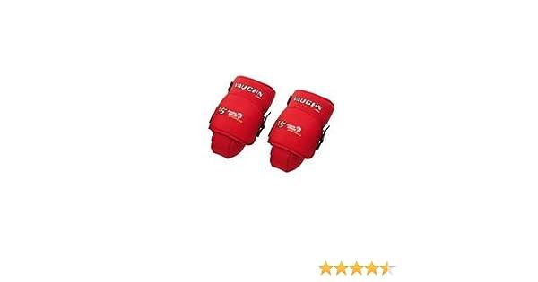New Vaughn Senior Ice Hockey Goalie Knee Guards Red Thigh Pads