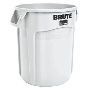 20 Gallon Rubbermaid Brute Round Trash Can, White: Amazon