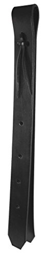 Hamilton Leather Off Billet, 1-1/2-Inch by 39-Inch, Black