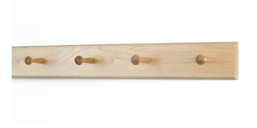 Solid Maple Shaker Peg Rack (Natural, 23