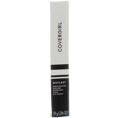 Lip Top Coat - CoverGirl Outlast Lipcolor Moisturizing Topcoat Clear [500] 0.06 oz (Pack of 4)