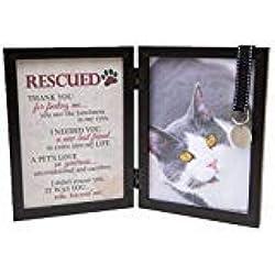 The Grandparent Gift Co. Rescued Pet Cat Poem 5 x 7 Black Photo Frame