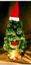 Singender weihnachtsbaum bewegungsmelder