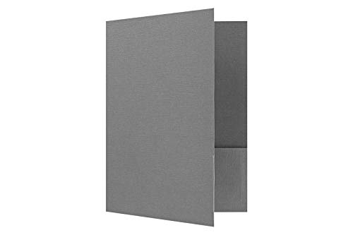 9 x 12 Presentation Folders - Standard Two Pocket - Sterling Gray Linen - Pack of 25 | Perfect for Tax Season, Brochures, Sales Materials and so Much More! | SF-101-CSG100-25
