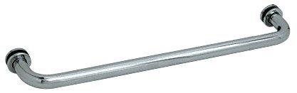 (Polished Nickel) CRL Polished Nickel Finish Single-Sided Regular Style 60cm Towel Bars for Glass B000NY9G9E 光沢ニッケル 光沢ニッケル