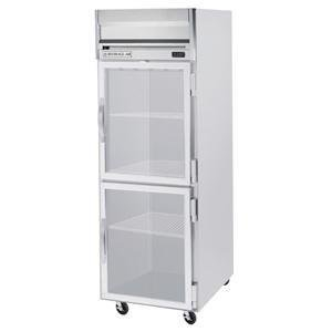 Beverage-Air HFP1-1HG Horizon Series One Section Glass Half Door Reach-In Freezer 24 cu.ft. capacity Stainless Steel Front and Sides Aluminum