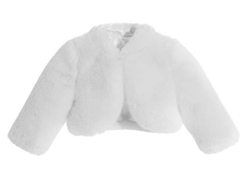 ekidsbridal White Faux Fur Capes Flower Girl Bolero Cozy Fur Jacket Princess Cape Dress Cover Up Flower Girl Shrug Dress Coat 5]()