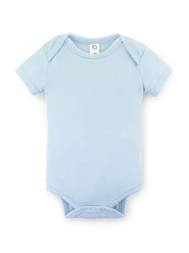 (Colored Organics Unisex Baby Organic Cotton Bodysuit - Short Sleeve Infant Onesie - Sky - 3-6M)
