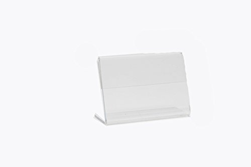 10pack Acrylic Slanted Horizontal Display
