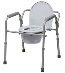 GF Health 7108A Steel Folding Commode (Pack of 4)