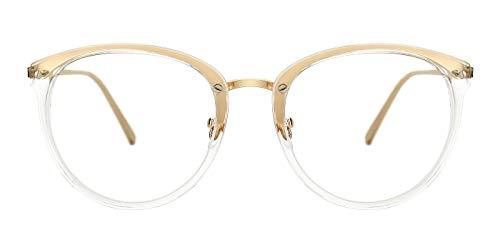 a2e55d1c51c TIJN Vintage Round Metal Optical Eyewear Non-prescription Eyeglasses Frame  for Women