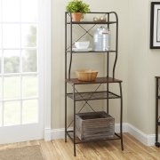 Mainstays Mixed Material Baker's Rack, Hammered Bronze Finish by Mainstay