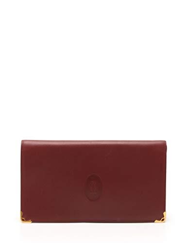 (カルティエ) Cartier 二つ折り財布 レザー ボルドー がま口 中古   B07MGXXMXV