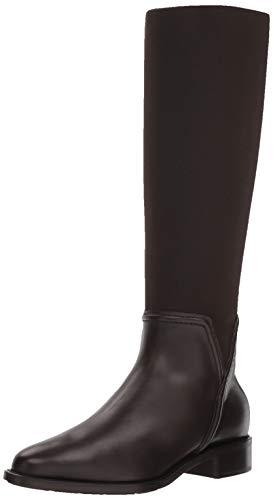 Aquatalia Women's NANINA Calf/Elastic Fashion Boot, Espresso, 6.5 M US