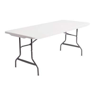 - Alera 65600 - Resin Rectangular Folding Table, 72w x 30d x 29h, Platinum-ALE65600