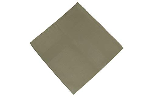 RC ROYAL CREST by Sigmatex - Lanier Textiles Large Satin Band Cloth Dinner Napkins Blended 55% Cotton 45% Polyester 22 x 22 inches 12 Pack (Olive) by RC ROYAL CREST (Image #1)