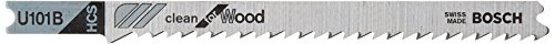 Wood 10 U-shank Tpi 4 - Bosch U101B 5-Piece 4 In. 10 TPI Variable Pitch Clean for Wood U-shank Jig Saw Blades
