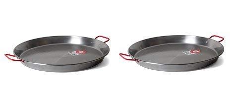 Garcima 20-Inch Carbon Steel Paella Pan, 50cm (2-(Pack))