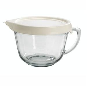 Anchor Hocking Glass Batter Bowl with TrueFit Lid 91557L11, 2 qt.