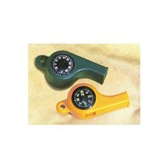 Digpets ME06506 Sportsmans Whistle With Compass And Temp Gauge - Orange