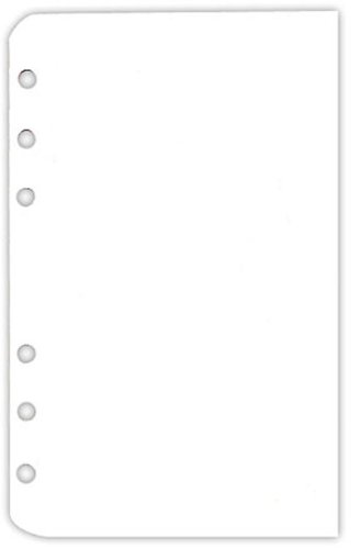 Pocket White Blank Pages - 200 Pack
