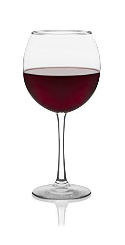 Libbey Vina Round Red Wine Goblets, 18-1/4-Ounce, Set of 6