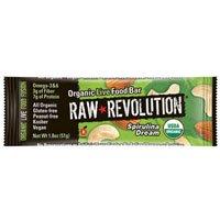 Raw Revolution Organic Super Food Bar Spirulina and Cashew, Spirulina and Cashew 1.8 oz(case of 12) (Pack of 5) by Raw Revolution