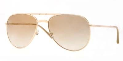 Burberry BE3071 Sunglasses-1017B3 Gold (Brown Mirror Silver/Bronze - Burberry Sunglasses Outlet
