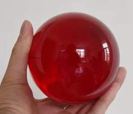 DSJUGGLING Ruby Red Acrylic Contact Juggling Ball - 76mm (3 Inches) by DSJUGGLING (Image #2)