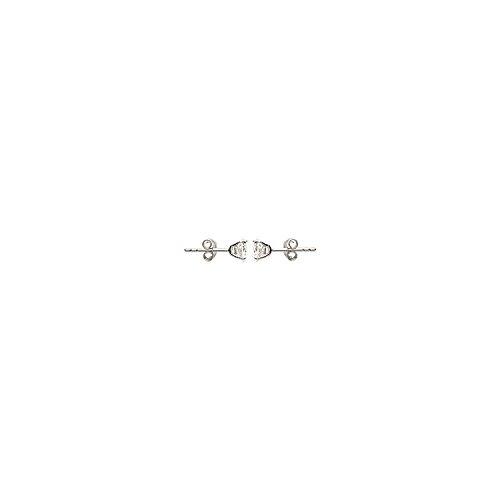 MARY JANE - Boucles d'oreilles Argent Femme/Homme - Diam:6mm - Argent 925/000 rhodié-Zirconium (Puce / Rond)