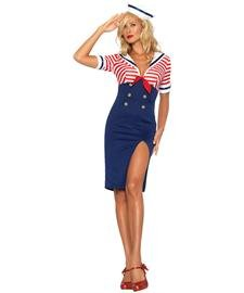 Deckhand Costume (Leg Avenue Women's Deckhand Diva Costume, Multi, Small/Medium)
