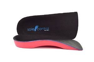 Sole Control Red Line 3/4 length Orthotic Insoles with firm Arch Support and Heel pad, flat feet, fallen arches, pronation, plantar fasciitis by Sole Control