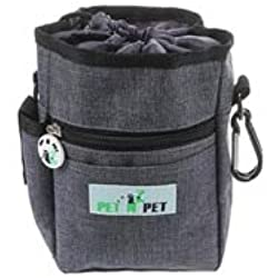 quynhchi store PET N PET Dog Treat Training Pouch-3 Ways to Ware Dog Treat Pouch with Built-in Poop Bag Dispenser