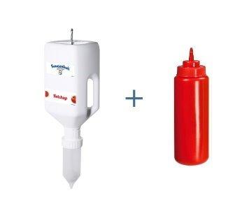 salsas Vaca®, Dispenser Pequeño ubre dispensador con gancho para colgar y – Ganchos Melk