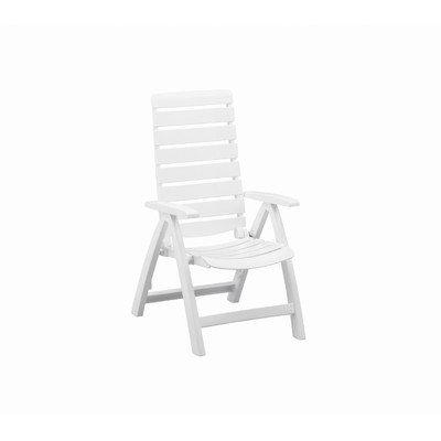 Kettler Rimini High Back Chair, White, Resin (Kettler Patio)