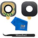 (MMOBIEL Back Camera Glass Lens Compatible with Samsung Galaxy S6 G920 /S6 Edge G925 (Black/Blue) incl Tweezers and Cloth)
